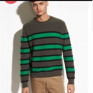 Vince striped crew 100% Cashmere